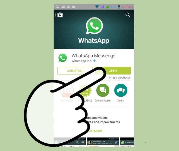 open-whatsapp-messenger step 4