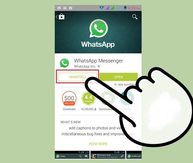 Uninstall-whatsapp